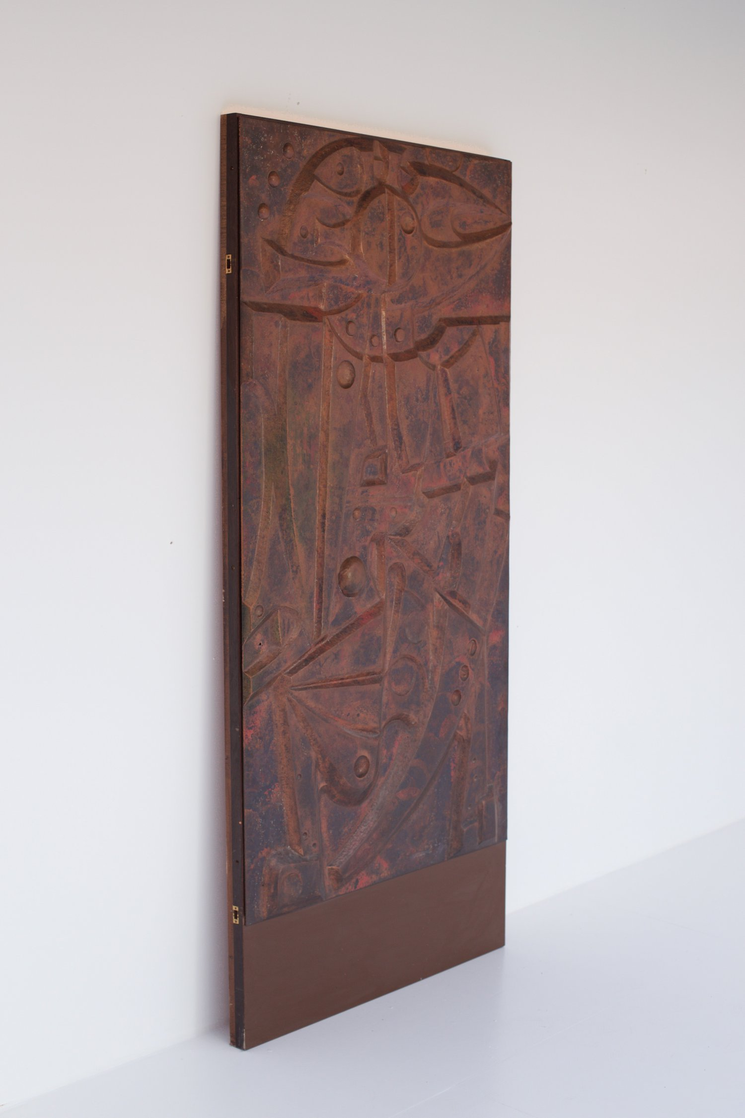 Copper door by Hubert Minnebo