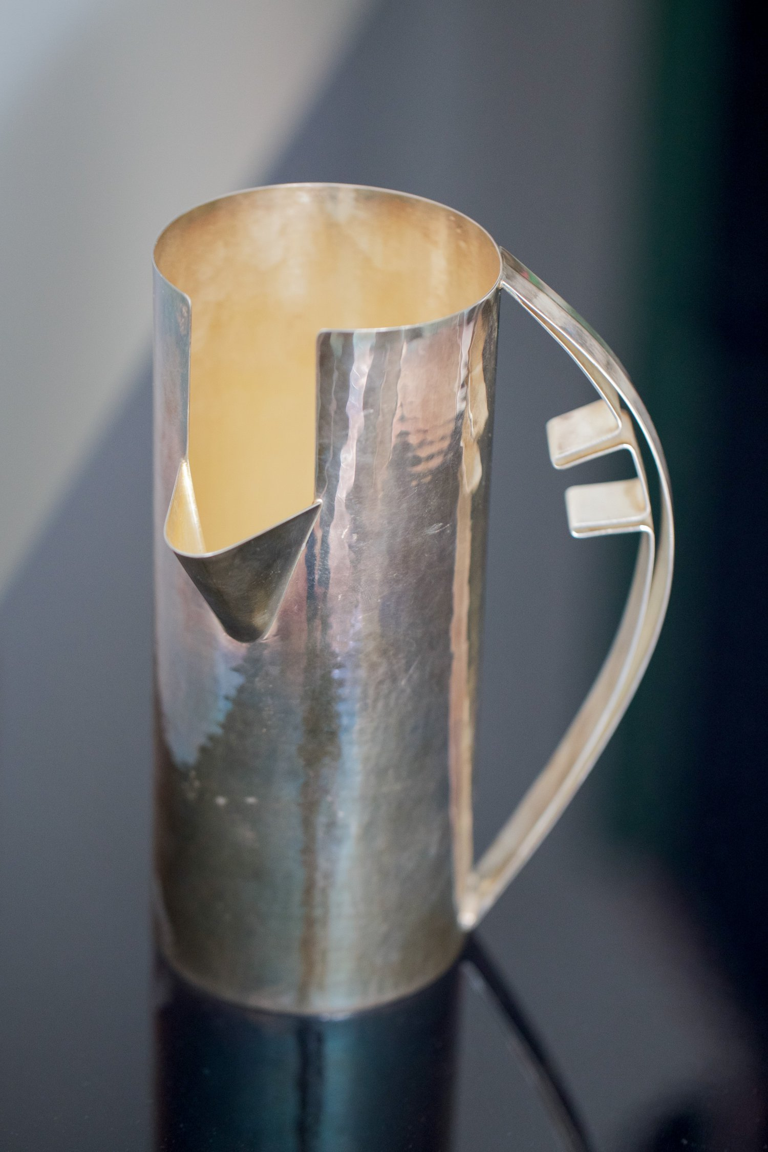 Carlo Scarpa silver pitcher for Cleto Munari