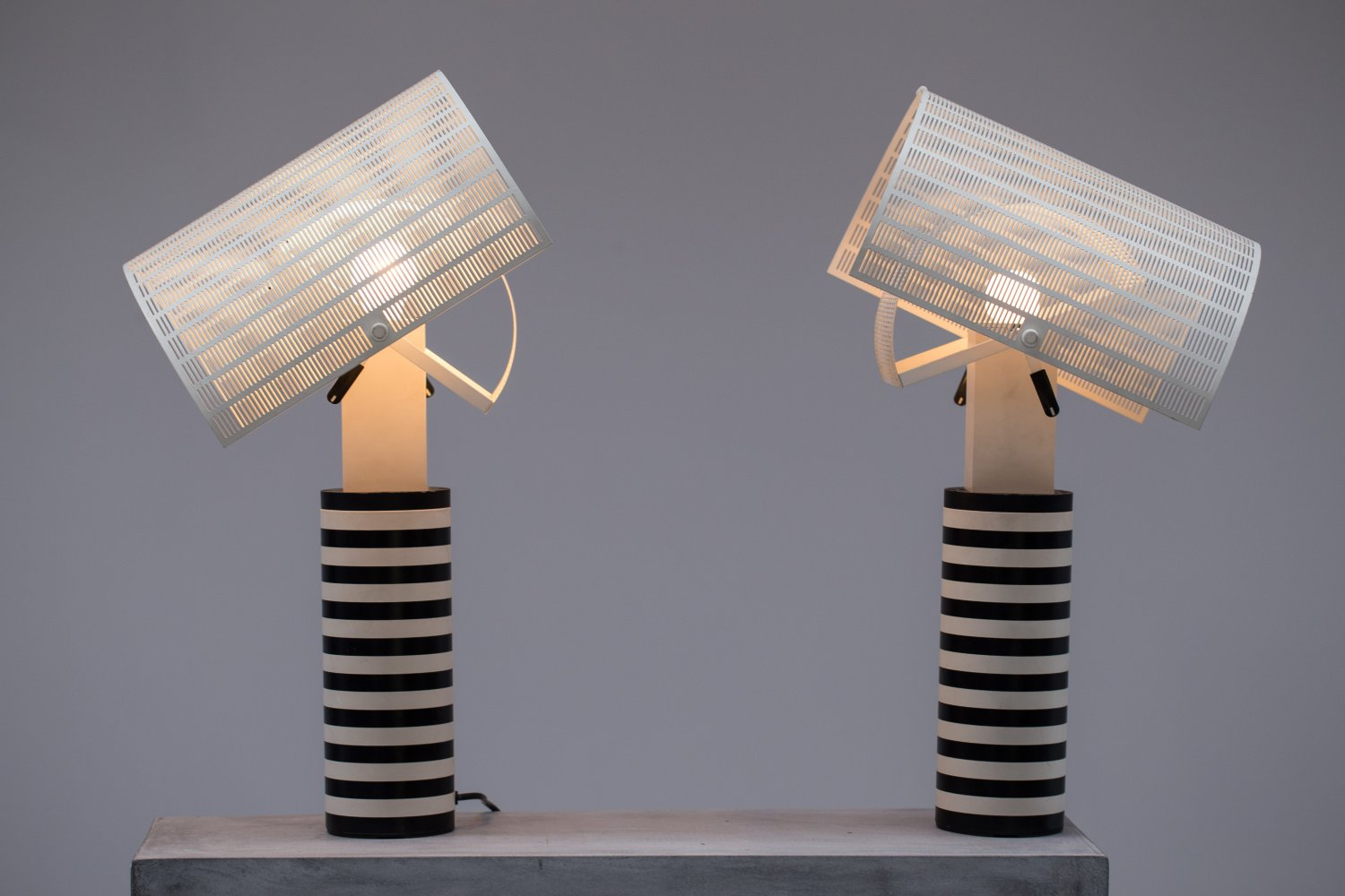 Pair of Shogun Table Lamps by Mario Botta