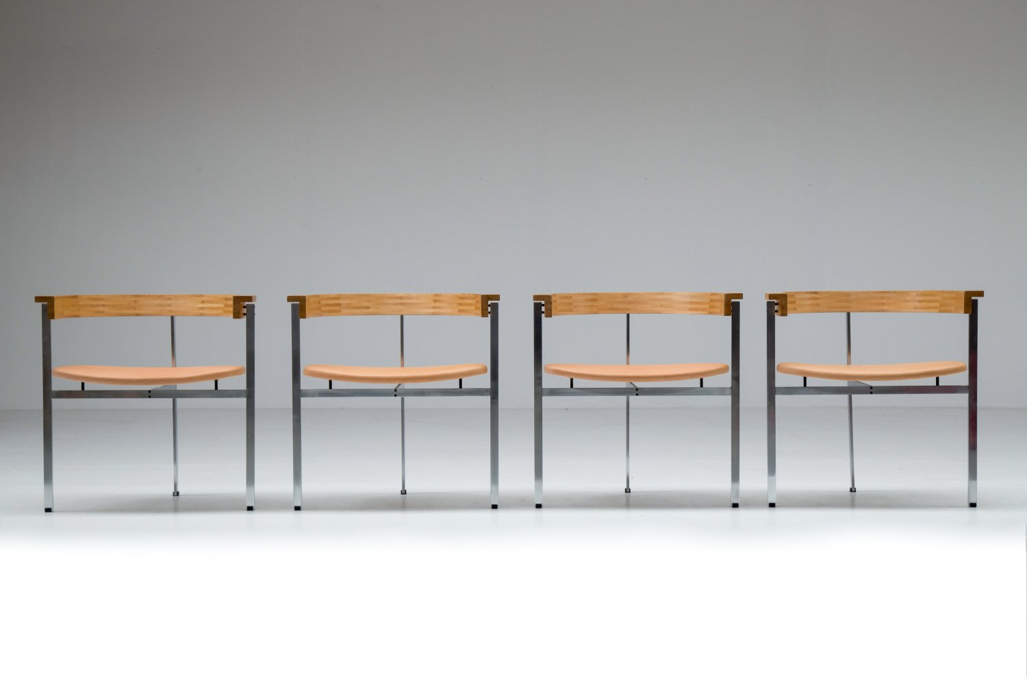 Set of 4 PK11 chairs by Poul Kjaerholm