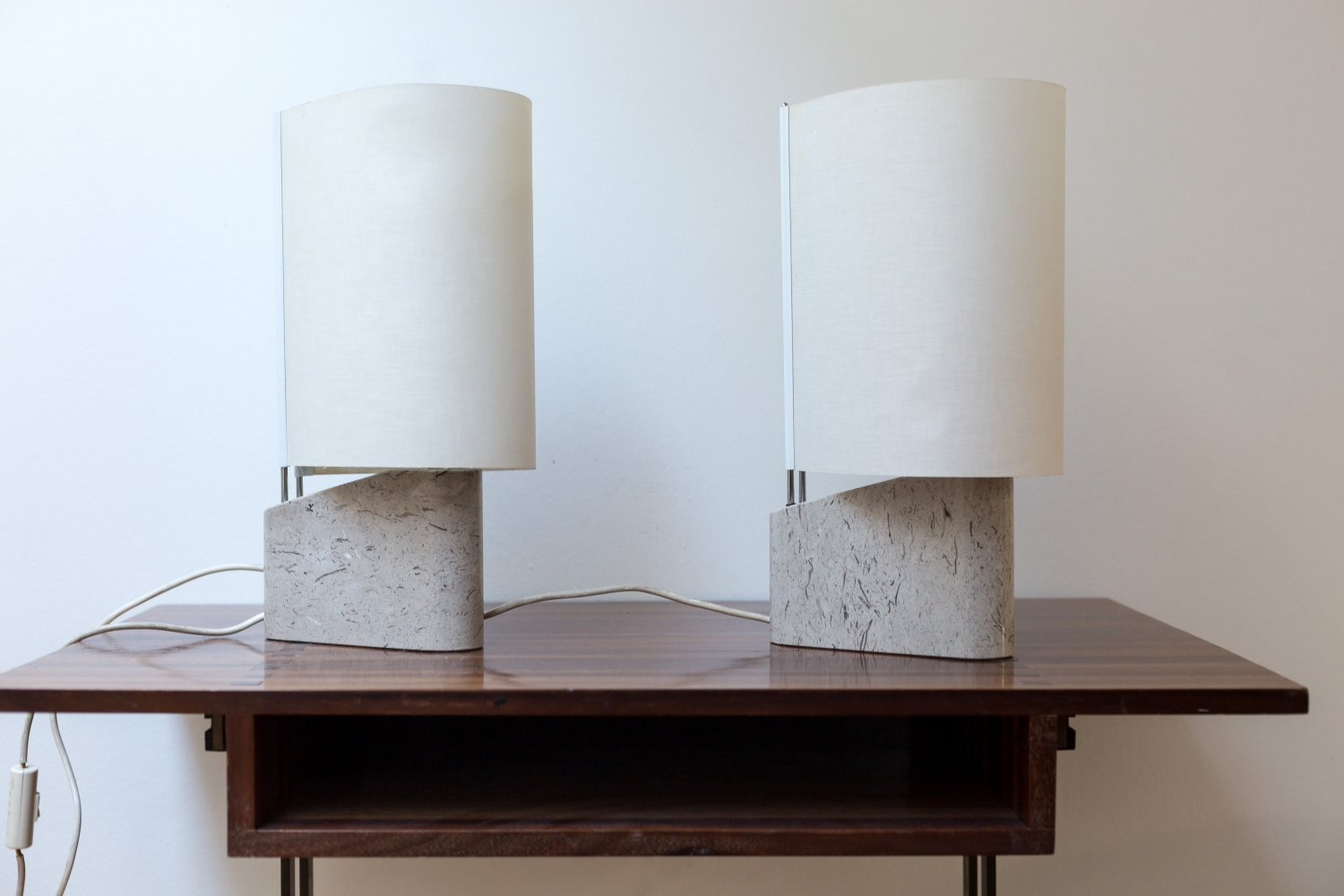Pair of 'Ibis' lamps by Bruno Gecchelin for Skipper