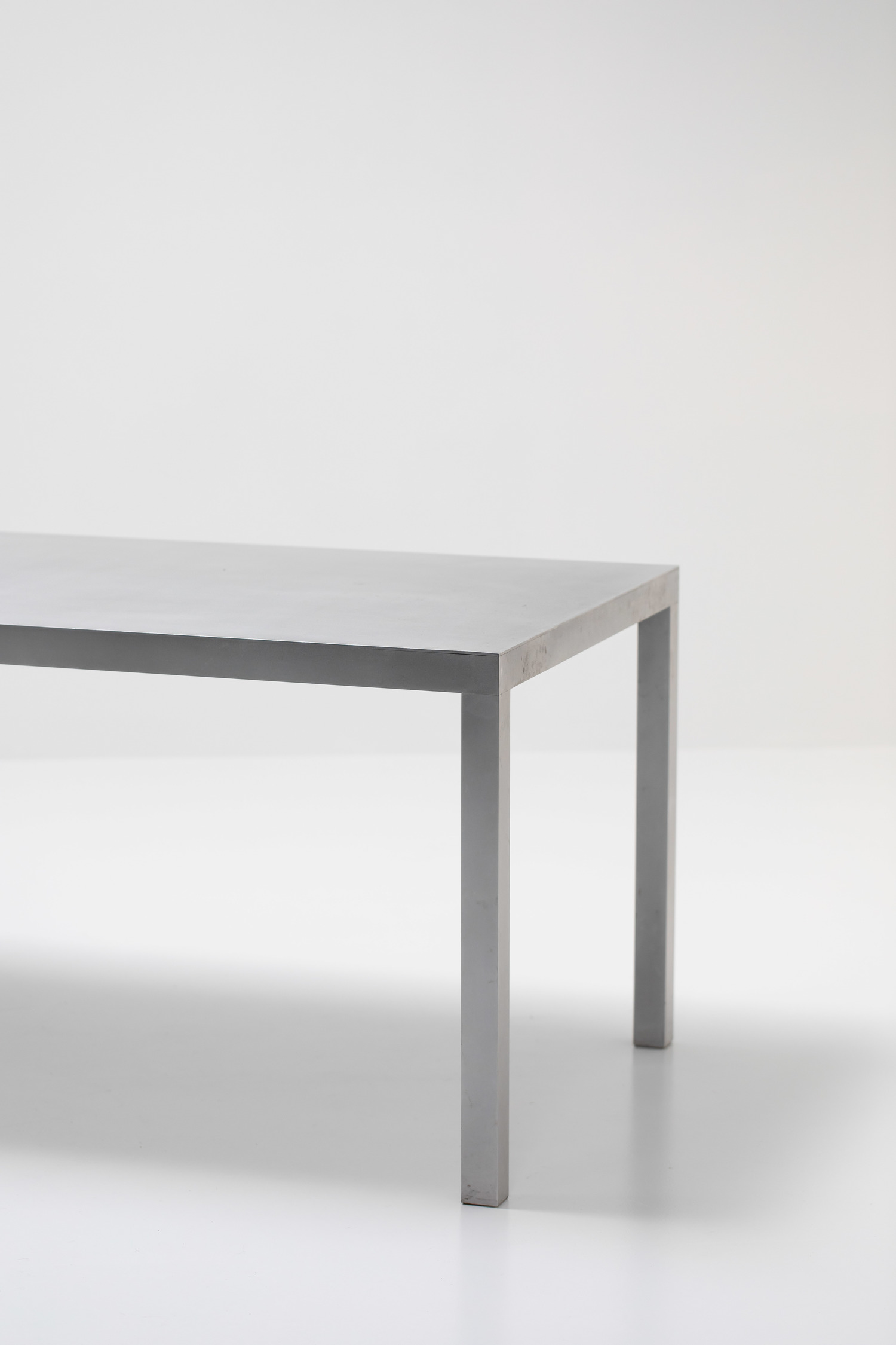 Maarten Van Severen aluminium table for Top Mouton