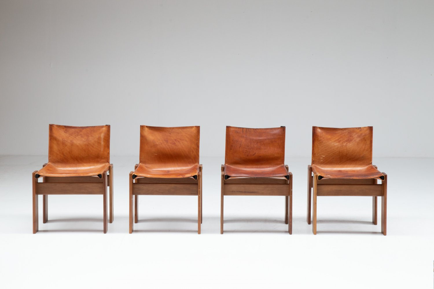 4 Monk chairs Tobia & Afra Scarpa for Molteni